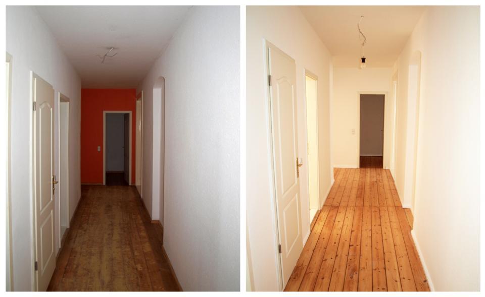 Flur Streichen Altberliner Wohnung, Handwerker Berger, Berlin, Pankow